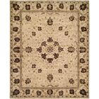 Hensley Hand Knotted Wool Brown/Ivory Area Rug Rug Size: Rectangle 2' x 3'