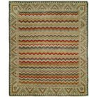 Dona Hand-Knotted Wool Ivory Area Rug Rug Size: Rectangle 8' x 10'
