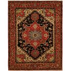 Martingale Hand Knotted Wool Black/Rust Area Rug Rug Size: Rectangle 9' x 12'