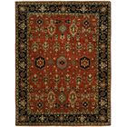 Doreen Hand Knotted Wool Rust/Black Area Rug Rug Size: Rectangle 3' x 5'