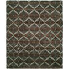 Heaney Hand-Knotted Brown Area Rug Rug Size: Rectangle 4' x 6'