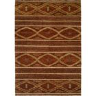 Sitkin Hand-Knotted Wool Brown Area Rug Rug Size: Rectangle 8' x 10'