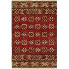 Grassy Ridge Hand-Knotted Wool Rust Area Rug Rug Size: Runner 2'6