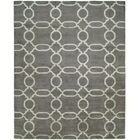 Avila Hand-Knotted Wool Gray Area Rug Rug Size: Rectangle 10' x 14'