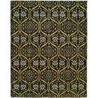 Hessie Hand Knotted Wool Black/Gold Area Rug Rug Size: Rectangle 12' x 15'