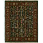 Lisbeth Flat Woven Wool Green/Red Area Rug Rug Size: Round 8'