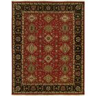 Domingues Wool Red/Black Area Rug Rug Size: Square 6'