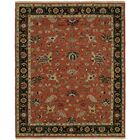 Herscher Flat Woven Wool Rust/Black Area Rug Rug Size: Rectangle 2' x 3'
