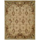 Marystone Hand Knotted Wool Ivory/Brown Area Rug Rug Size: Rectangle 6' x 9'