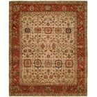 Massengill Hand Knotted Wool Ivory/Rust Area Rug Rug Size: Rectangle 10' x 14'