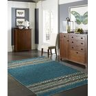 Dolley Hand-Knotted Cotton Teal Area Rug Rug Size: Runner 2'6
