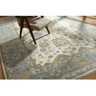 Hiran Hand Knotted Wool Ivory/Blue Area Rug Rug Size: Rectangle 9' x 12'