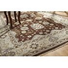 June Hand Knotted Wool Brown/Ivory Area Rug Rug Size: Rectangle 6' x 9'