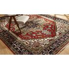 Marshallton Hand Knotted Wool Red/Black Area Rug Rug Size: Rectangle 10' x 14'