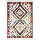 Carice White/Red Area Rug Rug Size: Rectangle 5'3