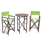 Waterford 3 Piece Bar Height Dining Set Color: Espresso/Green