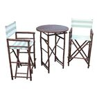 Waterford 3 Piece Bar Height Dining Set Color: Espresso/Celadon