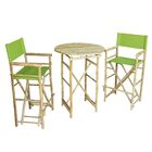 Waterford 3 Piece Bar Height Dining Set Color: Green
