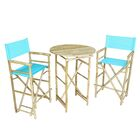 Waterford 3 Piece Bar Height Dining Set Color: Aqua Blue