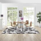 Witherell Geometric Triangle Mosaic Black/Gray/White Area Rug Rug Size: Rectangle 8' x 10'