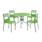 Sletten 5 Piece Dining Set Color: Green