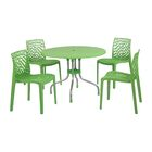 Gerardi Commercial Grade 5 Piece Dining Set Color: Green