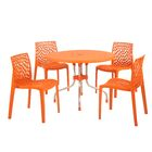 Sletten 5 Piece Dining Set Color: Orange