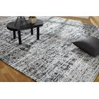 Shirl Hand-Knotted Cotton Charcoal Area Rug Rug Size: Runner 2'6