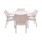 Slezak 5 Piece Dining Set Color: White