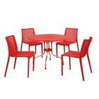 Gerardi Commercial Grade 5 Piece Dining Set Color: Red