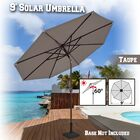 Kellswater Solar Light Outdoor 9' Market Umbrella Fabric Color: Taupe