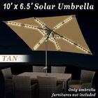 Bathilde 6.5' x 10' Rectangular Market Umbrella with LED Light Fabic Color: Taupe