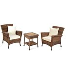 Stephnie 3 Piece Rattan Conversation Set with Cushions