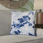Clair Peonies and Butterfly Suede Indoor Pillow Cover Size: 14