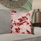Clair Peonies and Butterfly Pillow Cover Size: 14