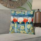 Akini Lanterns in Singapore 100% Cotton Throw Pillow Size: 18