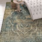 Kaetzel Beige/Blue Area Rug Rug Size: Rectangle 5' x 8'