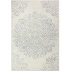 Kory Hand-Woven Wool Ivory/Gray Area Rug Rug Size: Rectangle 3'6