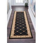 Clarence Black/Gold Area Rug Rug Size: 2'3'' x 10'
