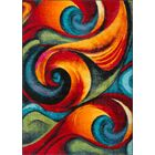 Weisman Red/Blue Area Rug Rug Size: 3'11'' x 5'3''