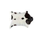 Swansea Calfskin Cowhide WhiteChocolate Area Rug