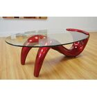 Delphinia Coffee Table Table Base Color: Red