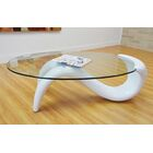 Delphinia Coffee Table Table Base Color: White