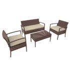 Piche 4 Piece Sofa Set with Cushions