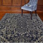 Eloy Art Silk Hand-Woven Wool Navy Area Rug Rug Size: Rectangle 5'6