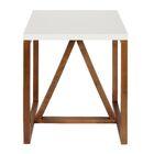 Dunstan End Table Color: White/Walnut Brown