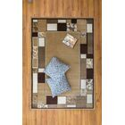 Jarnigan Brown/Beige Area Rug Rug Size: Rectangle 7'10