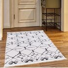 Byrd White/Charcoal Area Rug Rug Size: Rectangle 6'7