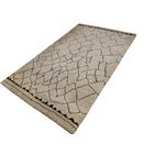 Pegues Hand Knotted Wool Light Tan/Dark Brown Indoor Area Rug Rug Size: Rectangle 6' x 9'