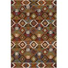 Morais Bohemian Hand Hooked Wool Dark Brown/Rust Area Rug Rug Size: Rectangle 5' x 7'6